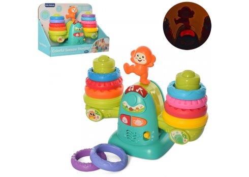 Детская развивающая игрушка-пирамидка музыкальная 9929