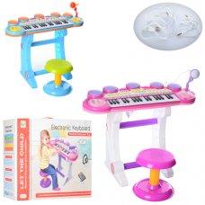 Детский синтезатор-пианино с микрофоном и стульчиком, BB45BD