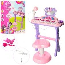 Детский синтезатор на ножках со стульчиком и микрофоном My Little Pony 901-613