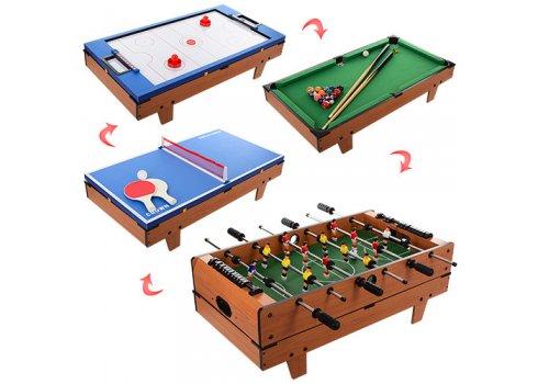 Детская настольная игра 4в1 (футбол, хоккей, теннис, бильярд) HG207-4