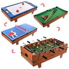 Настольная игрва 4в1 (футбол на штангах, воздушный хоккей, теннис, бильярд) HG207-4
