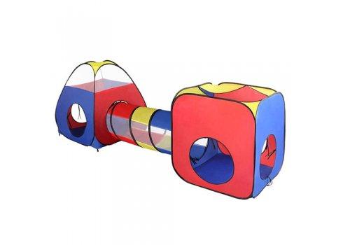 Детская двойная палатка с тоннелем MR 0403
