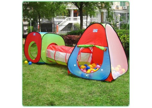 Игровой комплекс 3 в 1 Детская двойная палатка с тоннелем M 2958