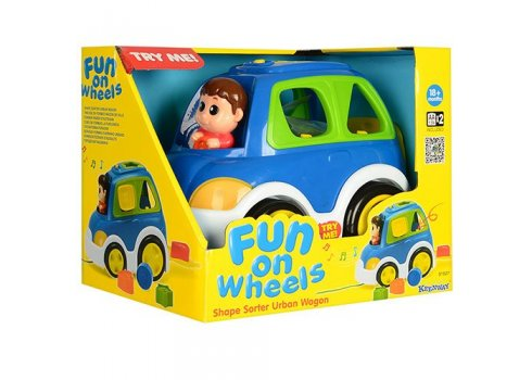 Сортер и музыкально-обучающая игрушка — каталка KEENWAY 31527