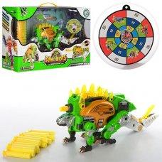 Трансформер динозавр+автомат с мишенью SB375