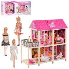 Домик для куклы 2-этажный с мебелью 66884