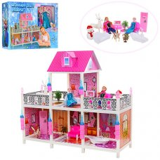 Домик для куклы 2-этажный с мебелью 66906