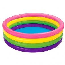 Детский надувной бассейн Цветной 168х46см, Intex 56441
