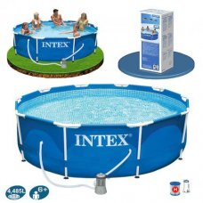 Бассейн каркасный с фильтр-насосом 305х76см, Intex 28202