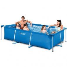Каркасный бассейн прямоугольный Rectangular Frame 220х150х60см, Intex 28270