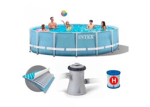 Бассейн каркасный с фильтр-насосом, Intex 28702