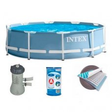 Бассейн каркасный с фильтр-насосом, Intex 28712