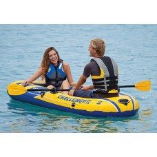 Лодка надувная Challenger 2 Set, Intex 68367