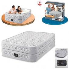 Двухспальная надувная кровать с встроенным насосом 203х152см, Intex 64464