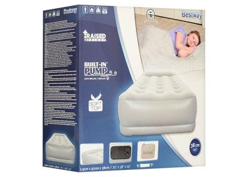 Велюровая кровать с встроенным электронасосом, Bestway 67455
