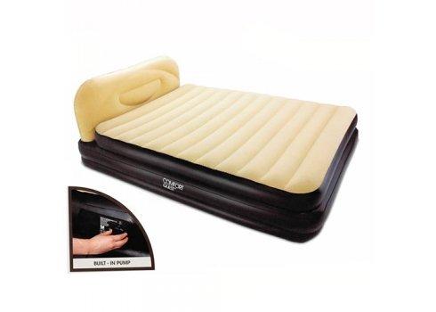 Двухспальная надувная кровать со спинкой и встроенным насосом 226х152см, Bestway 67483