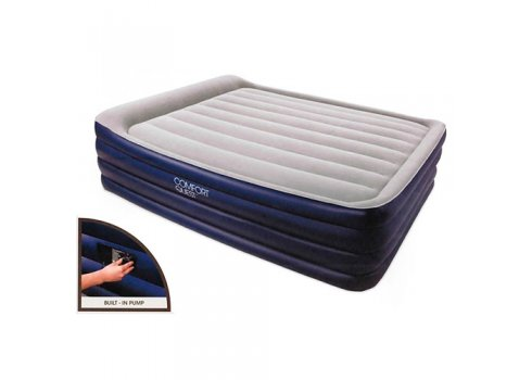 Двухспальная надувная кровать с встроенным насосом 203х152см, Bestway 67528