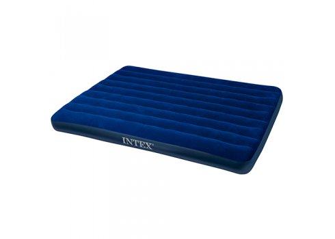 Двуспальный надувной матрац из высокопрочного водонепроницаемого ПВХ 203х152см, Intex 68759