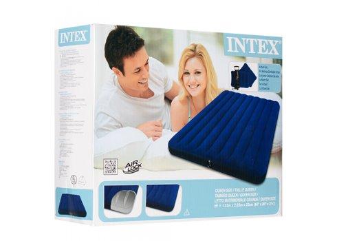 Двуспальный надувной матрац из высокопрочного водонепроницаемого ПВХ, Intex 68765