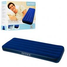 Односпальный надувной матрац из высокопрочного водонепроницаемого ПВХ, Intex 68950