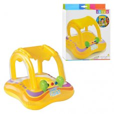 Надувной плотик с навесом от солнца для детей от 1 года, Intex 56581
