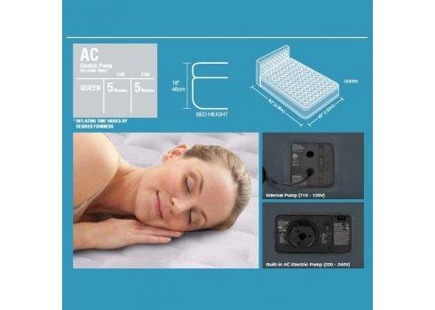 Двухспальная надувная кровать с встроенным насосом 236х152см, Intex 64448
