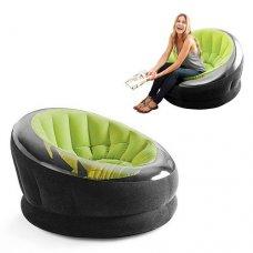 Велюровое надувное кресло Intex, 68582 зеленый, оранжевый, розовый
