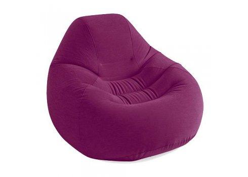 Велюровое надувное кресло Intex 68584