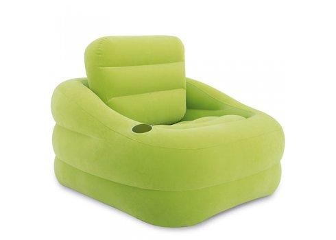 Велюровое надувное кресло с подстаканником, Intex 68586