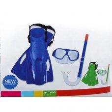 Набор для ныряния ласты, маска и трубка, BestWay 25019
