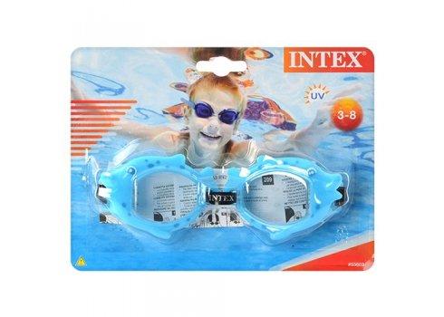 Детские очки для плавания с противоконденсатными и УФ-защитой линзами, Intex 55603