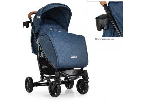 Всесезонная прогулочная коляска El Camino Zeta ME 1011 Denim Blue синий