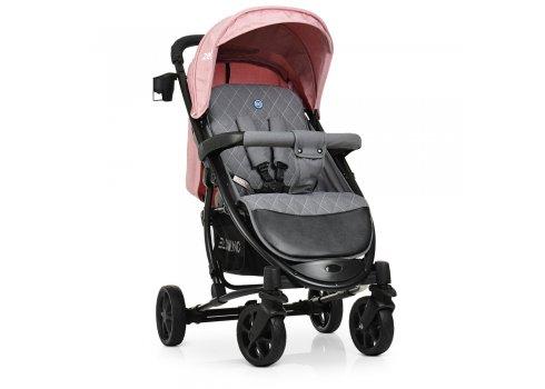Всесезонная прогулочная коляска El Camino Zeta ME 1011 Denim Pale Pink розовый