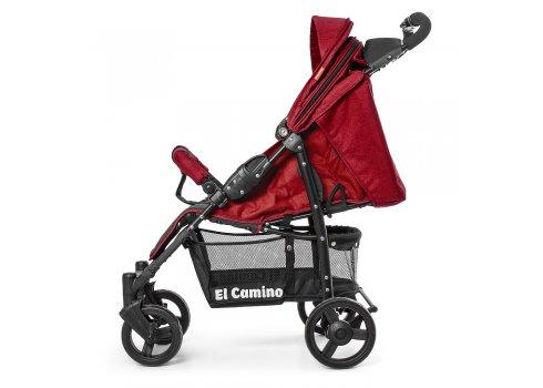 Детская прогулочная коляска El Camino Amulet, ME 1015L Deep Red