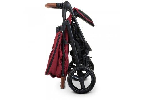 Всесезонная прогулочная коляска El Camino X4 ME 1024 Deep Red красный