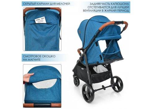 Всесезонная прогулочная коляска El Camino X4 ME 1024L Navy Blue, синий