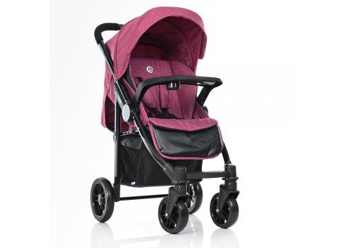 Всесезонная прогулочная коляска El Camino Tempo ME 1027L Sangria, розовый