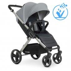 Детская прогулочная коляска-книжка EL CAMINO DYNAMIC ME 1053 Gray серый