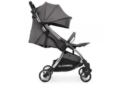 Детская прогулочная коляска El Camino Milly ME 1059 Midnight Black темно-серый
