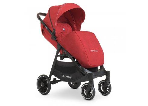 Детская прогулочная коляска-книжка EL CAMINO OPTIMA ME 1083 Red красный