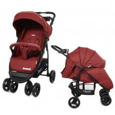 Детская прогулочная коляска Tilly Avanti Avanti T-1406 Dark Red в льне