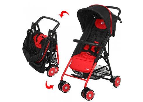 Детская прогулочная коляска El Camino Pilot, M 3294-3 красно-черная