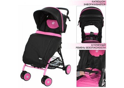 Детская прогулочная коляска El Camino Pilot, M 3294-8 розово-черная