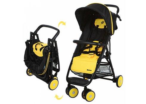 Детская коляска на алюминиевой раме, El Camino  Motion M 3295-6 желто-черная
