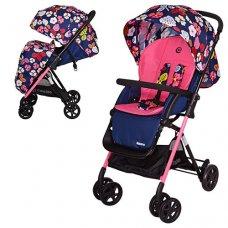 Детская прогулочная коляска-книжка El Camino Amore, M 3405-8-2 сине-розовый