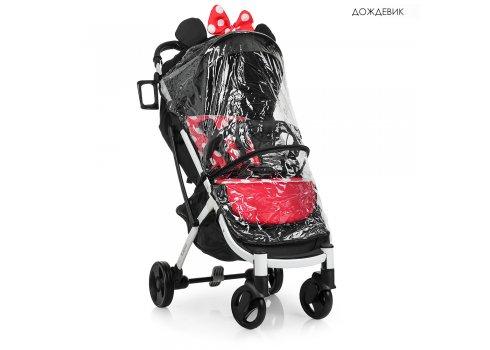 Детская прогулочная коляска Минни Yoga II на белой раме M 3910-3 красный горох