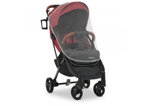 Детская прогулочная коляска Yoga II на черной раме M 3910 Carmine Red