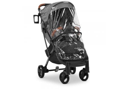 Детская прогулочная коляска Yoga II на черной раме M 3910 Iron Gray