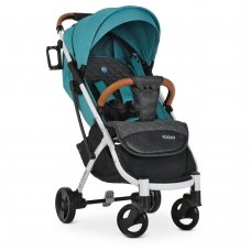 Детская прогулочная коляска Yoga II на белой раме M 3910 Turquoise-W