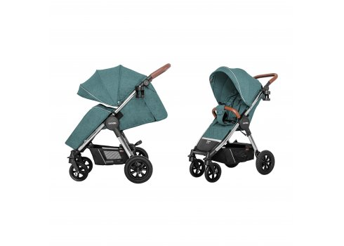 Коляска прогулочная с надувными колесами CARRELLO Supra CRL-5510 Aqua Green(L) бирюза